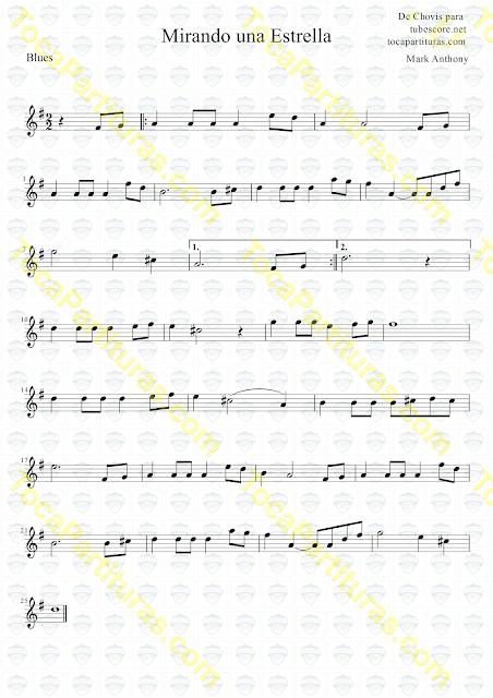3º Mirando una estrella Partitura de en Clave de Sol. Partituras de Flauta, Violín, Saxofón Alto, Trompeta, Oboe, Saxo Tenor, Soprano Sax, Barítono, Fliscorno, Trompa, Corno inglés y otros instrumentos musicales Sheet Music for Alto Saxhophone, Violin, Flute, Trumpet, Clarinet, Flugelhorn, Horn, Recorder, Baritone, Tenor, Soprano, Oboe... Music Scores in Treble Clef (G)