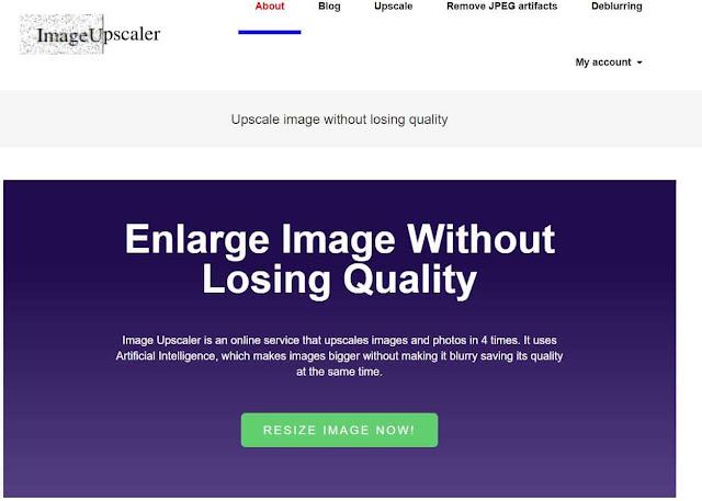 موقع Image Upscaler تكبير الصورة بنفس الجودة