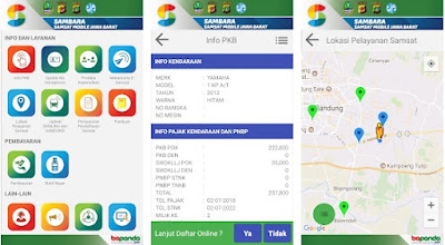 Cara cek pajak kendaraan jawa barat  menggunakan Aplikasi (online )