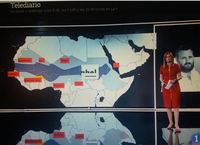 TVE utiliza un mapa con el Sáhara Occidental formando parte de Marruecos.