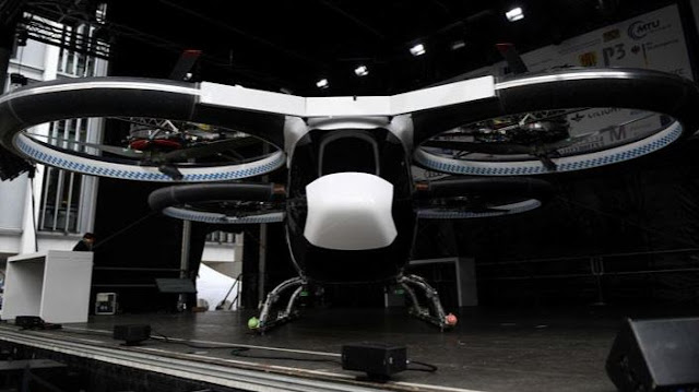 Airbus & Audi Electric Air Taxi 'CityAirbus' Prototype