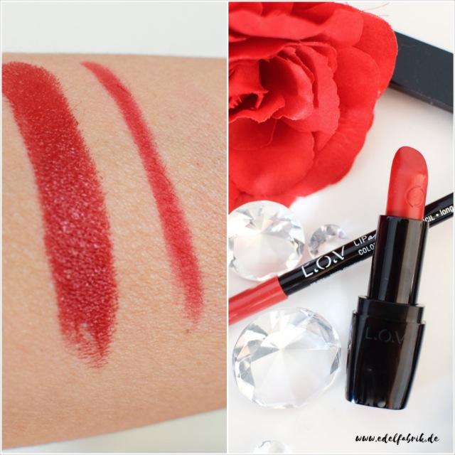 L.O.V, neue Produkte, Lippenstift, Lipliner, Swatch