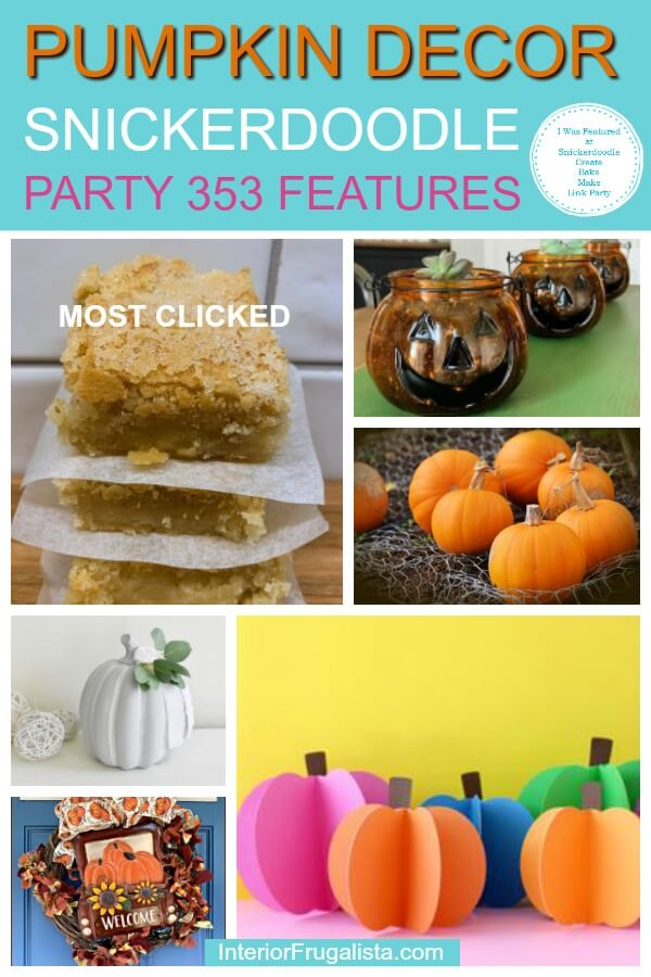 Pumpkin Decor - Snickerdoodle Link Party 353 Features