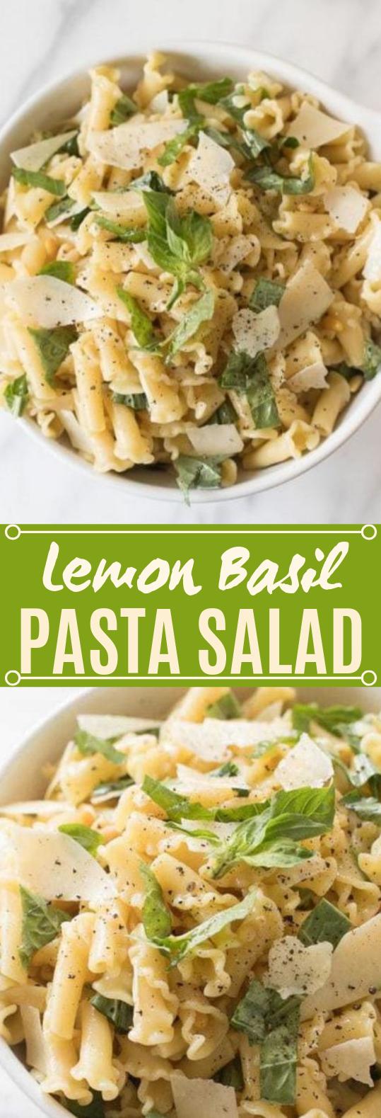 Basil Lemon Pasta Salad #vegetarian #salad