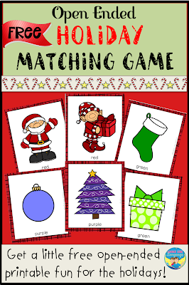 Click to download the free printable Holiday Matching Game.