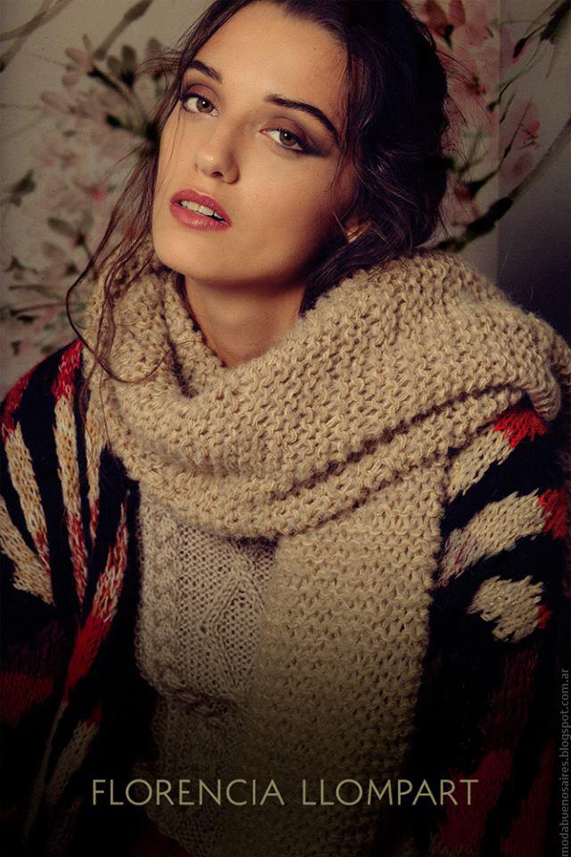 Sweaters y bufandas otoño invierno 2016 Florencia Llompart.