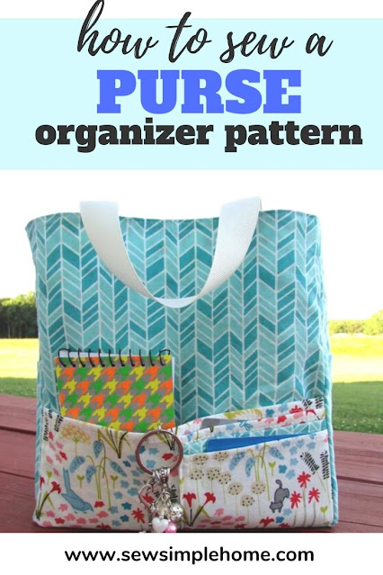 Keep your bag or purse organized with this diy purse organizer sewing tutorial and pattern.