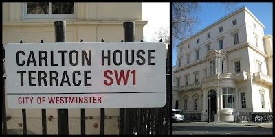Carlton House Terrace on site of Carlton House