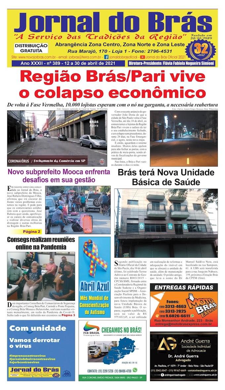 Destaques da Ed. 389 - Jornal do Brás