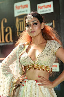 Apoorva Spicy Pics in Cream Deep Neck Choli Ghagra WOW at IIFA Utsavam Awards 2017 54.JPG