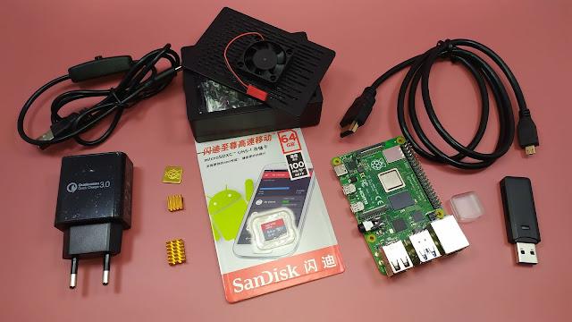 عدة راسبيري باي 4 متكاملة - كل ما تحتاجه لدخول عالم الراسبيري باي - Raspberry pi 4 B 4GB kit