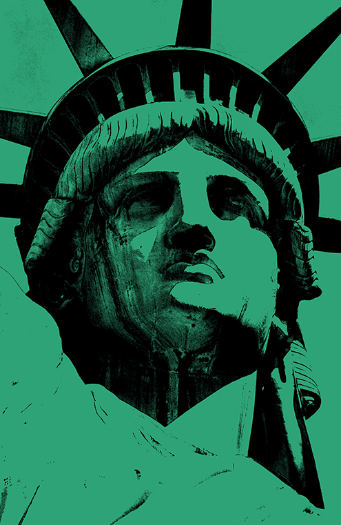 lady liberty illustration statue of liberty vector new york city por art graphic design art photoshop inkscape free estatua de la libertad nueva dibujo drawing estilo andy warhol style colors color verde green black