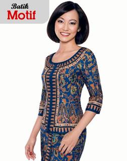 Model Baju Batik wanita kantoran Modern