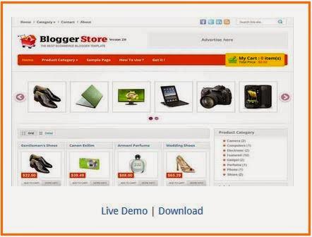 Template e-commerce checkout untuk blog