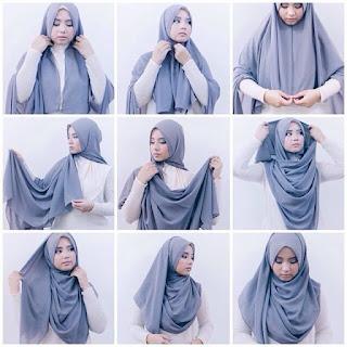 Hijab Pashmina Kaos Modern