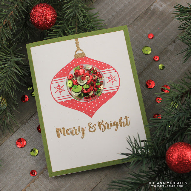 Jillibean Soup Holiday Shape Shaker Card Ornament by Juliana Michaels