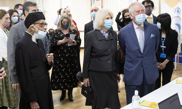 The Prince of Wales and Duchess of Cornwall visited the Community Vaccination Centre at Finsbury Park Mosque