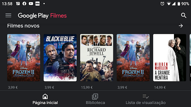 Google Play Filmes poderá disponibilizar filmes e séries à borlix!
