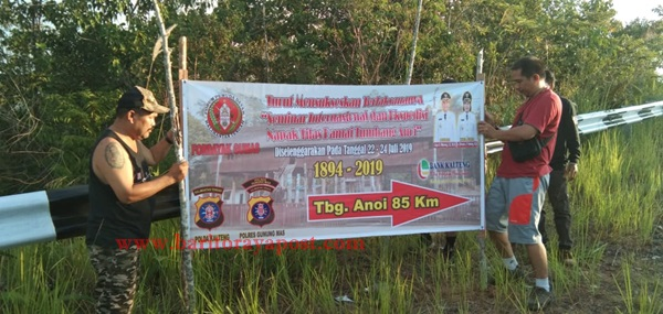 DPD FORDAYAK Gumas, Pasang Penunjuk Jalan Menuju Tumbang Anoi