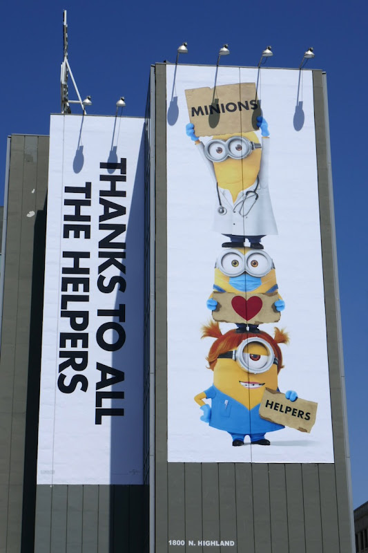 Minions Thanks to all the helpers billboard
