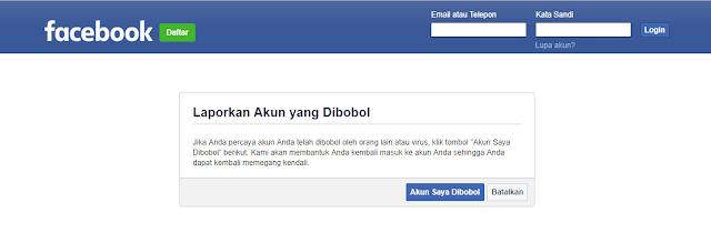 cara membuka akun facebook di hack