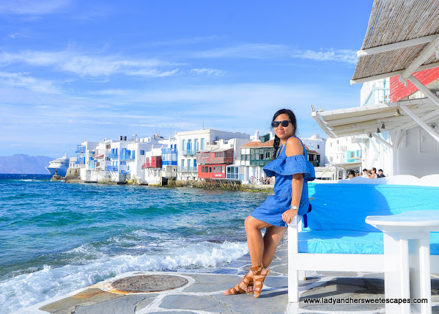 Lady in Mykonos Greece