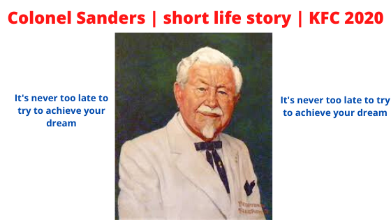 KFC Owner  Colonel Sanders  Motivational Life Story | Colonel Sanders  Biography in English