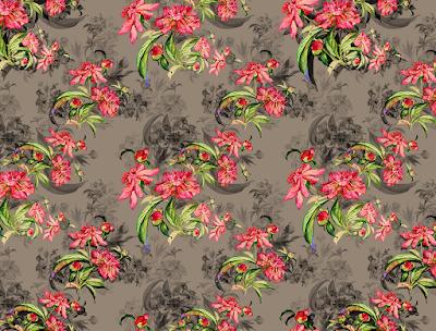 floral water colour textile repeat 7046