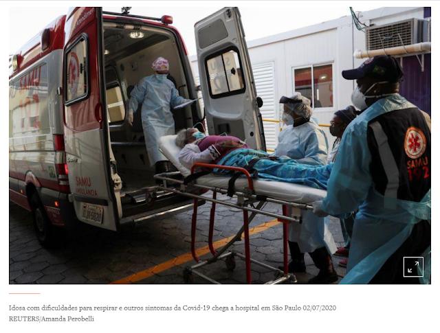 Brasil tem 549 novas mortes por Covid-19 e se aproxima de 158 mil óbitos