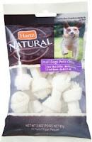 Hartz Natural Mini Bone Rawhide Chew Small Dog Treat 2.80 oz 10 ea (Pack of 2)