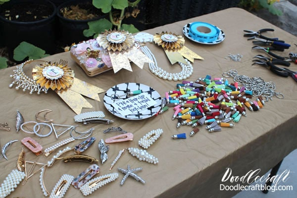 Crafts and party favors for a Downton Abbey Inspired 1920's Flapper Garden Party Girls Night and all the details on how to host your own!