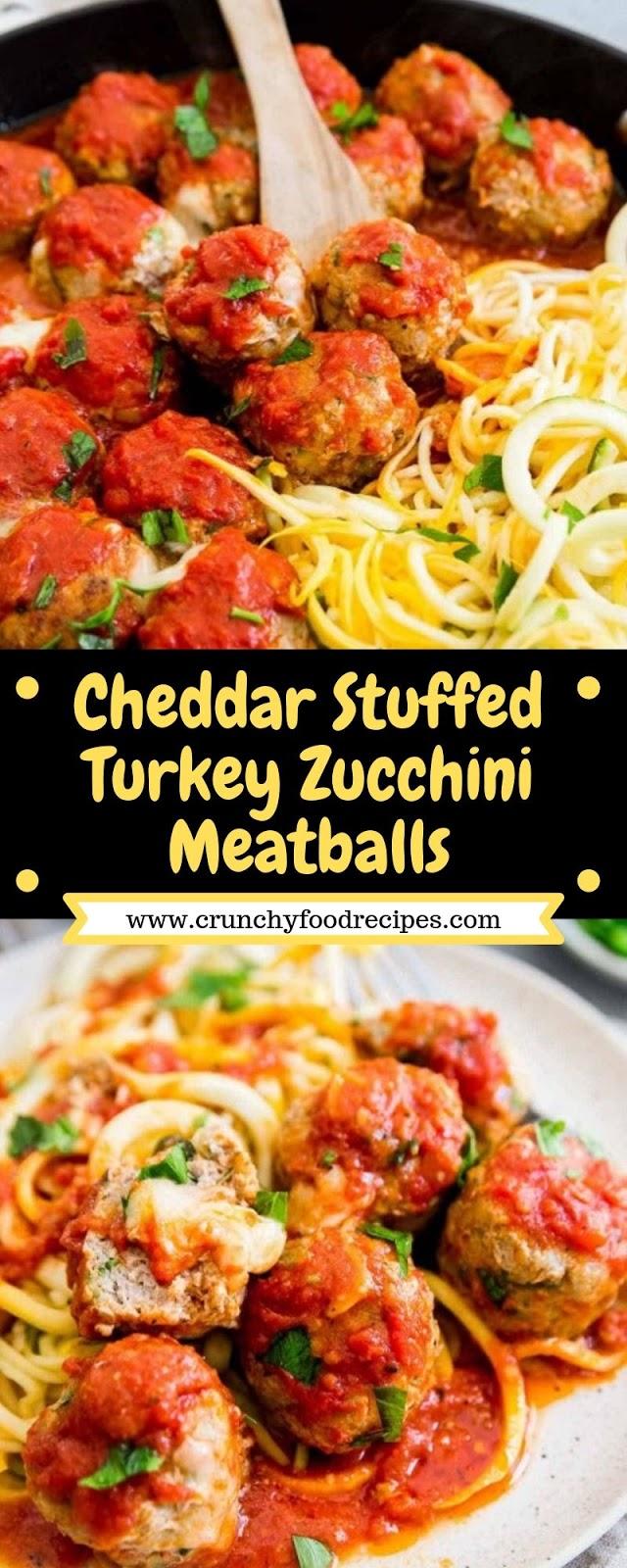 Cheddar Stuffed Turkey Zucchini Meatballs