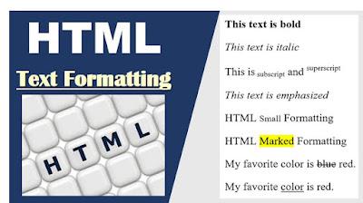 HTML Text Formatting Practicals