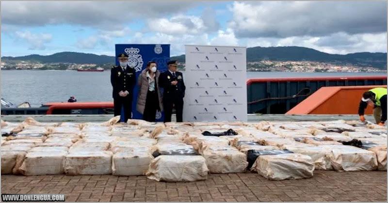 Concluyen que Cocaína que llegó en un cargamento a España es del cartel de Nicolás Maduro