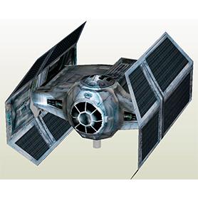 Tie Advanced - Nave do Darth Vader - Board game X wing papercraft de 4 e 12 cm