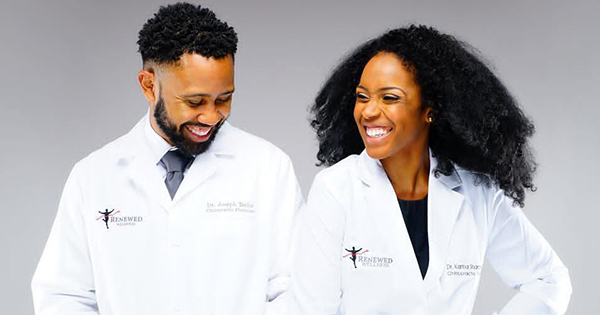 Dr. Joe Taylor and Dr. Karina Sharpe-Taylor, founders of Renewed Wellness Center