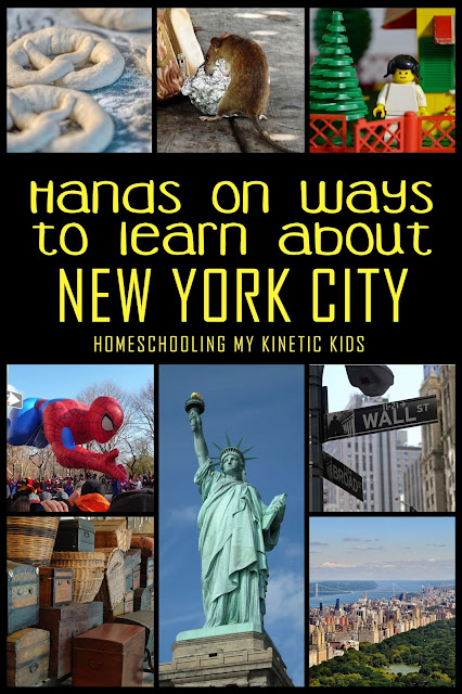 Lots of hands-on ideas for studying about New York City in your homeschool or classroom.  Bringing in history, culture, geography, and more!