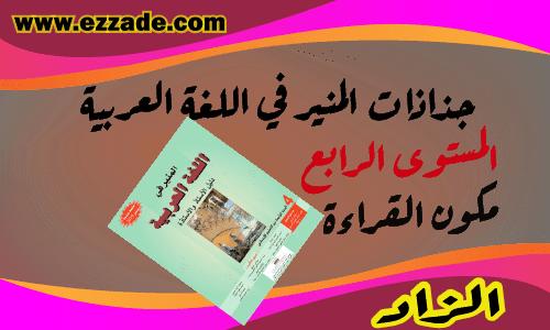 جذاذات المنير في اللغة العربية مكون القراءة المستوى الرابع