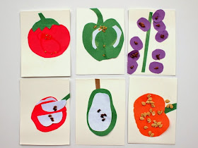 easy kid science activity- look at the seeds in your food!