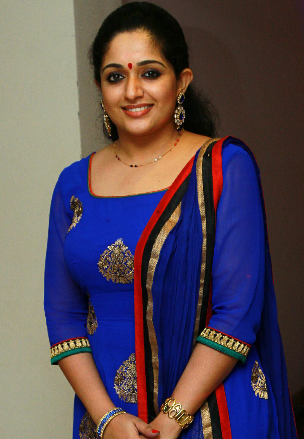 Kavya Madhavan Latest In Blue Churidar