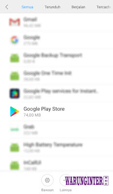 Google Play Store Di Menu Setelan