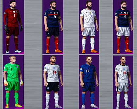 PES 2021 National Teams Kitserver 2020/2021