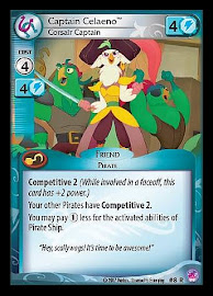 My Little Pony Captain Celaeno, Corsair Captain Seaquestria and Beyond CCG Card