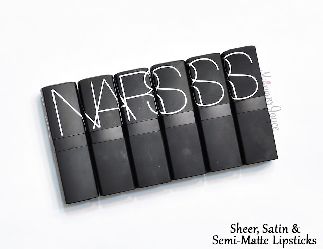 Nars Sheer Satin Semi Matte Lipsticks Swatches Comparison