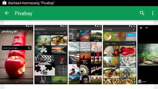 Aplikasi pixabay gambar gratis