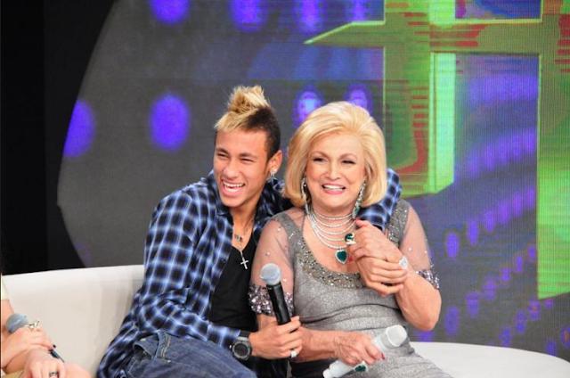 Jogador Neymar durante participação no programa 'Hebe'