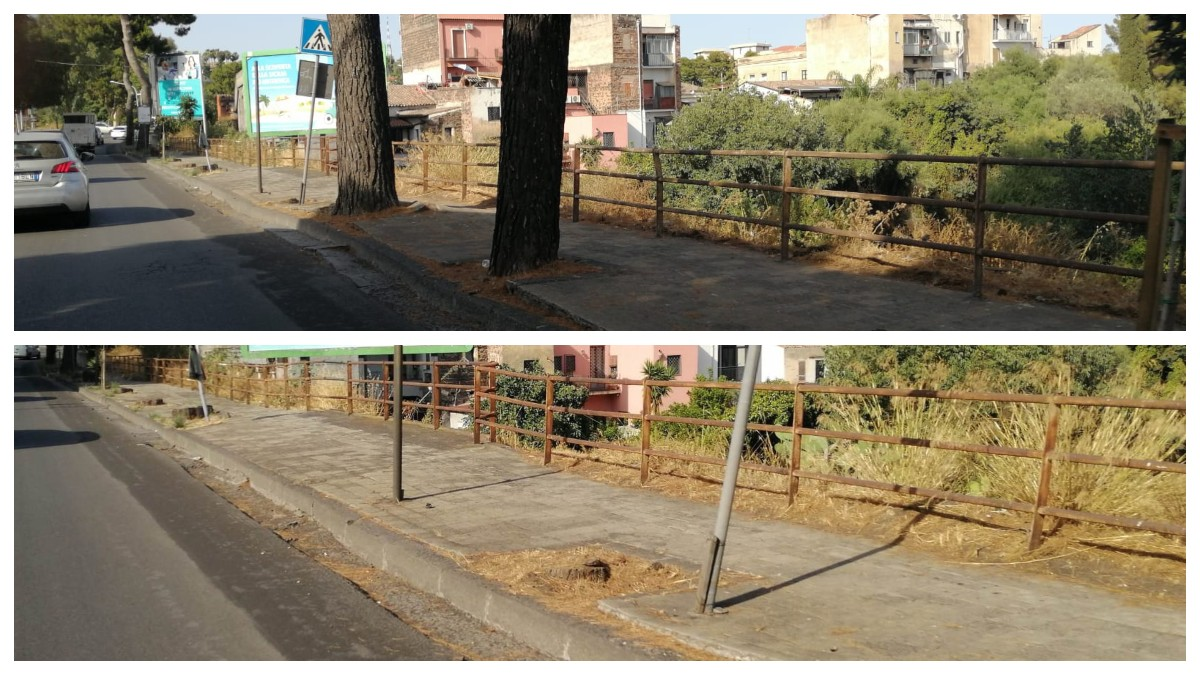 Manutenzione marciapiedi Catania