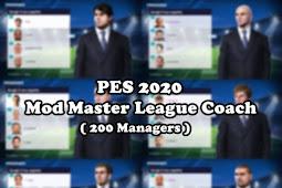 Master League Coach Faces (200 Managers) - PES 2020