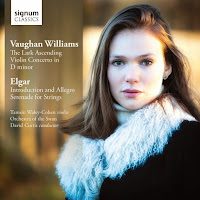 Vaughan Williams and Elgar, Tamsin Waley-Cohen, Orchestra of the Swan, David Curtis - Signum Classics