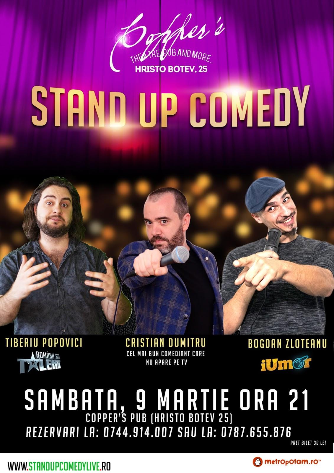 Stand-Up Comedy in Bucuresti Sambata Seara